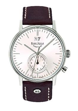 Bruno Söhnle Herren Analog Quarz Uhr mit Leder Armband 17-13180-247 - 1