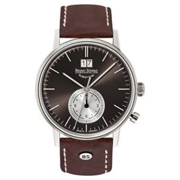 Bruno Söhnle Herren Analog Quarz Uhr mit Leder Armband 17-13180-841 - 1