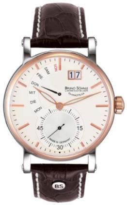Bruno Söhnle Herren Analog Quarz Uhr mit Leder Armband 17-63073-247 - 1