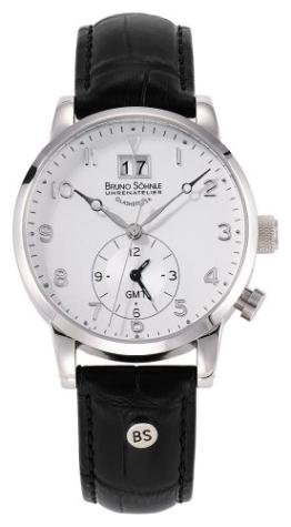 Bruno Söhnle Herren-Armbanduhr Milano GMT Analog Quarz Leder 17-13043-221 - 1