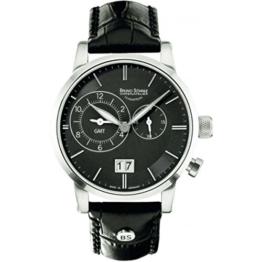 Bruno Söhnle Herren-Armbanduhr Milano GMT Analog Quarz Leder 17-13043-741 - 1