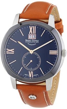 Bruno Söhnle Herren-Armbanduhr XL Analog Quarz Leder 17-73146-735 - 1