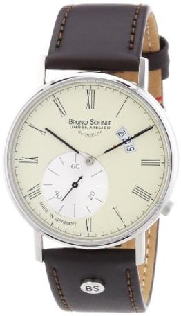 Bruno Söhnle Herren-Armbanduhr XL Rondo Analog Quarz Leder 17-13053-131 - 1