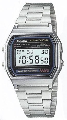 Casio -Armbanduhr Quarz Edelstahl A158 - 1