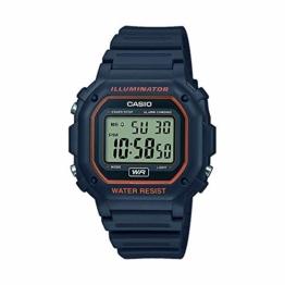 CASIO Unisex Erwachsene Digital Quarz Uhr mit Harz Armband F-108WH-8A2EF - 1
