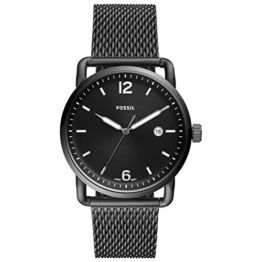 Fossil Herren Analog Quarz Uhr mit Edelstahl Armband FS5419 - 1