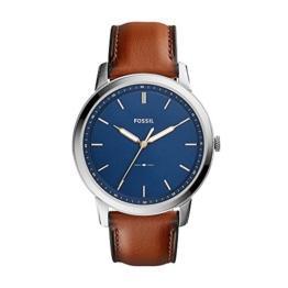 Fossil Herren Analog Quarz Uhr mit Leder Armband FS5304 - 1