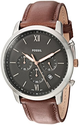 Fossil Herren Analog Quarz Uhr mit Leder Armband FS5408 - 1