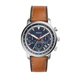 Fossil Herren Analog Quarz Uhr mit Leder Armband FS5414 - 1