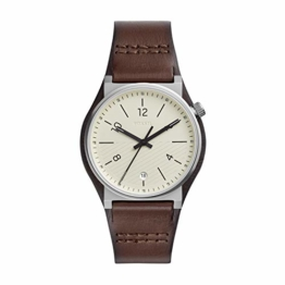 Fossil Herren Analog Quarz Uhr mit Leder Armband FS5510 - 1