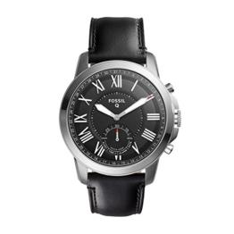 Fossil Herren Analog Quarz Uhr mit Leder Armband FTW1157 - 1