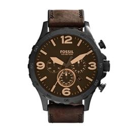 Fossil Herren Analog Quarz Uhr mit Leder Armband JR1487 - 1