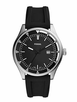 Fossil Herren Analog Quarz Uhr mit Silikon Armband FS5535 - 1