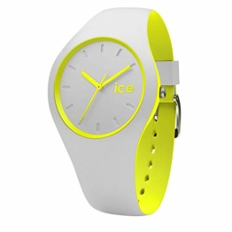 Ice-Watch - Ice Duo Grey Yellow - Graue Herrenuhr mit Silikonarmband - 001500 (Medium) - 1