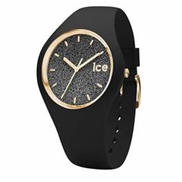 Ice-Watch - Ice Glitter Black - Schwarze Damenuhr mit Silikonarmband - 001356 (Medium) - 1