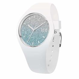 Ice-Watch - Ice lo White Blue - Weiße Damenuhr mit Silikonarmband - 013429 (Medium) - 1