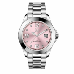Ice-Watch - Ice Steel Light pink silver - Silbergraue Damenuhr mit Metallarmband - 016776 (Medium) - 1