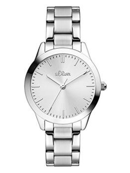 s.Oliver Damen Analog Quarz Uhr mit Edelstahl Armband SO-3438-MQ - 1