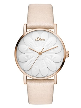 s.Oliver Damen Analog Quarz Uhr mit Leder Armband SO-3470-LQ - 1