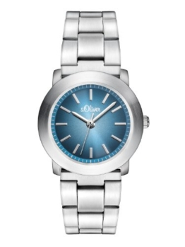 s.Oliver Damen-Armbanduhr XS Analog Quarz Edelstahl SO-2798-MQ - 1