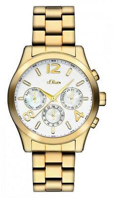S.Oliver Damen Multifunktionsuhr Gold SO-2393-MM, Damen Uhren Uhr Metallband gol