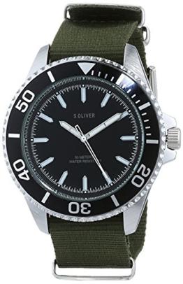 s.Oliver Herren Analog Quarz Uhr mit Nylon Armband SO-3484-LQ - 1