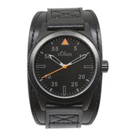 s.Oliver Herren-Armbanduhr Analog Quarz Leder SO-15153-LQR - 1