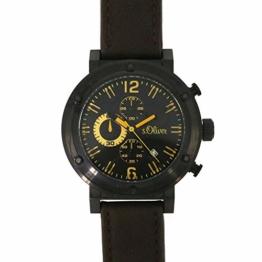 s.Oliver Herren-Armbanduhr Analog Quarz Leder SO-15159-LCR - 1