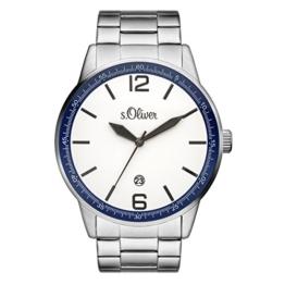 s.Oliver Herren-Armbanduhr Analog Quarz SO-15162-MQR - 1