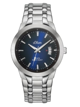 s.Oliver Herren-Armbanduhr XL Analog Quarz Edelstahl SO-2823-MQ - 1