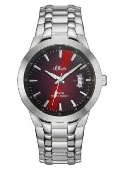 s.Oliver Herren-Armbanduhr XL Analog Quarz Edelstahl SO-2824-MQ - 1