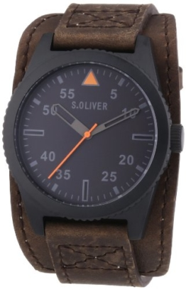 s.Oliver Herren-Armbanduhr XL Analog Quarz Leder SO-2880-LQ - 1