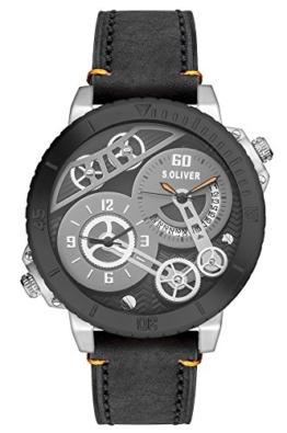 s.Oliver Herren-Armbanduhr XL Analog Quarz Leder SO-2948-LQ - 1