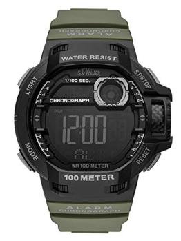 s.Oliver Herren Digital Quarz Uhr mit PU Armband SO-3494-PD - 1