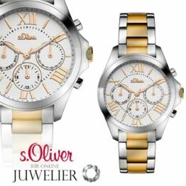 s.Oliver SALE Damen Uhr/Armbanduhr aus Edelstahl SO-2838-MM