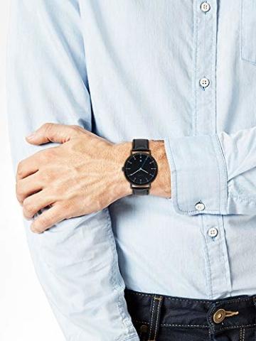 s.Oliver Time Herren Analog Quarz Uhr mit Leder Armband SO-3618-LQ - 5