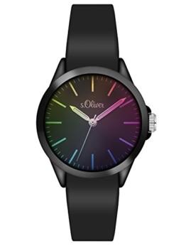 s.Oliver Unisex Analog Quarz Uhr mit Silikon Armband SO-3197-PQ - 1