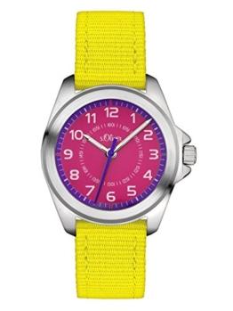 s.Oliver Unisex Analog Quarz Uhr mit Textil Armband SO-3228-LQ - 1