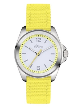 s.Oliver Unisex Analog Quarz Uhr mit Textil Armband SO-3231-LQ - 1