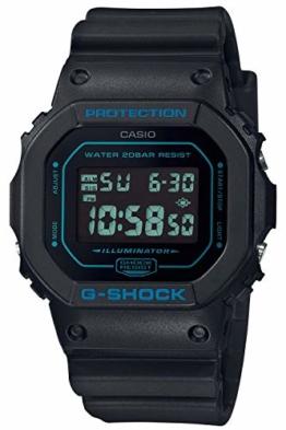 CASIO Herren Digital Quarz Uhr mit Resin Armband DW-5600BBM-1ER - 1
