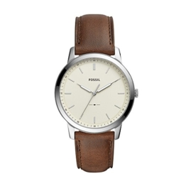 Fossil Herren Analog Quarz Smart Watch Armbanduhr mit Leder Armband FS5439 - 1