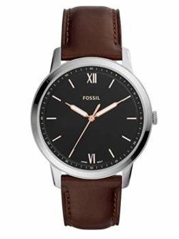 Fossil Herren Analog Quarz Uhr mit Leder Armband FS5464 - 1