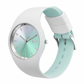 Ice-Watch - ICE duo chic White aqua - Weiße Damenuhr mit Silikonarmband - 016984 (Medium) - 2