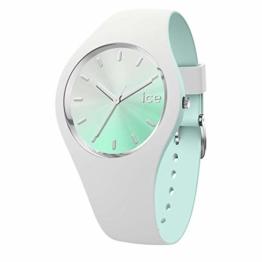 Ice-Watch - ICE duo chic White aqua - Weiße Damenuhr mit Silikonarmband - 016984 (Medium) - 1