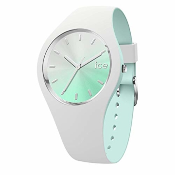 Ice-Watch - ICE duo chic White aqua - Weiße Damenuhr mit Silikonarmband - 016984 (Medium) - 1