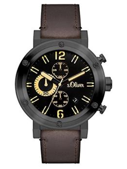 s.Oliver Herren-Armbanduhr Analog Quarz Leder SO-3096-LC - 1