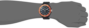 Alpina Männern hochwertig Smart 'Quarz Edelstahl und Gummi Sport Armbanduhr, Farbe: Schwarz (Modell: al-282lbo4V6) - 2