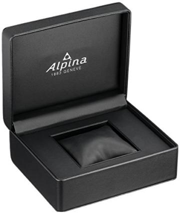 Alpina Männern hochwertig Smart 'Quarz Edelstahl und Gummi Sport Armbanduhr, Farbe: Schwarz (Modell: al-282lbo4V6) - 3