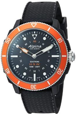 Alpina Männern hochwertig Smart 'Quarz Edelstahl und Gummi Sport Armbanduhr, Farbe: Schwarz (Modell: al-282lbo4V6) - 1