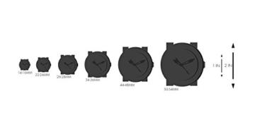 Alpina Männern hochwertig Smart 'Quarz Edelstahl und Gummi Sport Armbanduhr, Farbe: Schwarz (Modell: al-282lbo4V6) - 4